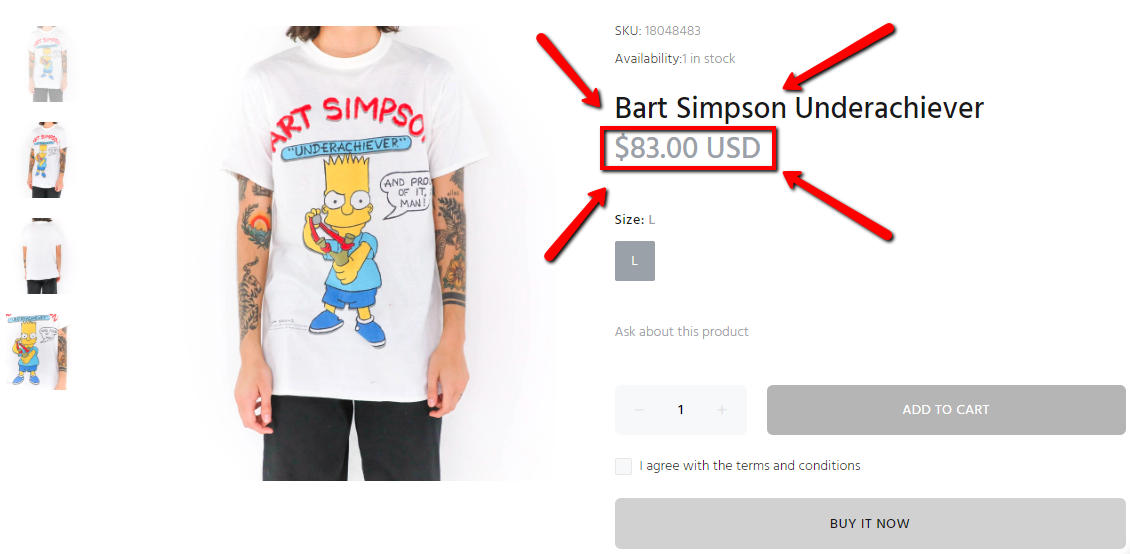 Bart Simpson T-Shirt Underachiever And Proud Of It 1990s Original Fox Design with Blue Shirt
